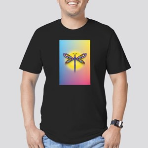 Dragonfly1-Sun-gr1 Men's Fitted T-Shirt (dark)