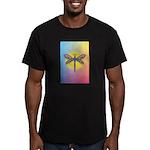 Dragonfly1-Sun-gr1 Men's Fitted T-Shirt (dark)