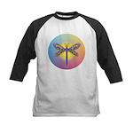 Dragonfly1-Sun-gr1 Kids Baseball Jersey