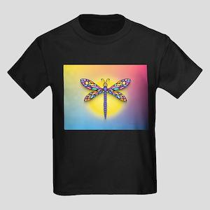 Dragonfly1-Sun-gr1 Kids Dark T-Shirt