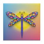 Dragonfly1-Sun-gr1 Tile Coaster