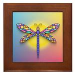 Dragonfly1-Sun-gr1 Framed Tile