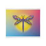 Dragonfly1-Sun-gr1 Throw Blanket