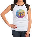 Dragonfly1-Sun-gr1 Women's Cap Sleeve T-Shirt