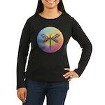 Dragonfly1-Sun-gr1 Women's Long Sleeve Dark T-Shir