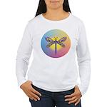 Dragonfly1-Sun-gr1 Women's Long Sleeve T-Shirt