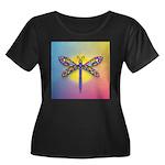 Dragonfly1-Sun-gr1 Women's Plus Size Scoop Neck Da