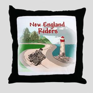 Mountains & Sea Logo Items Throw Pillow