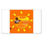 ItsHotoutsidellc Sticker (Rectangle 50 pk)