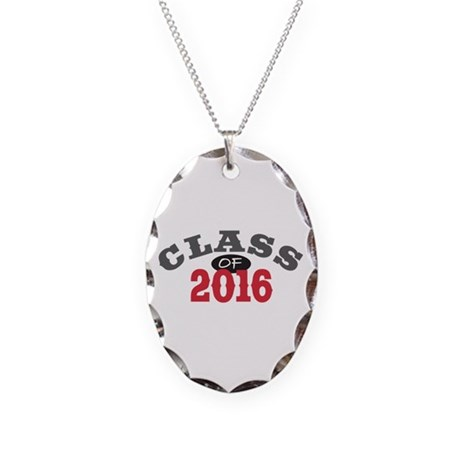 Class of 2016 Necklace Oval Charm