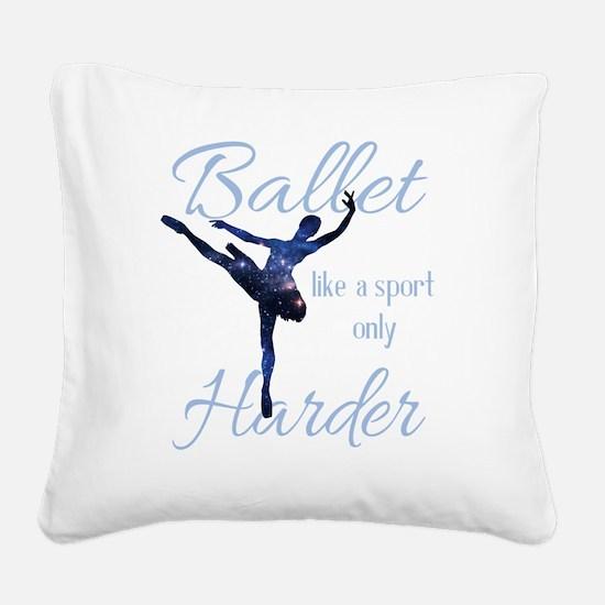 Cute Ballet Square Canvas Pillow