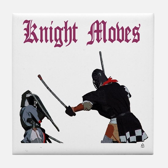 Knight Moves Tile Coaster