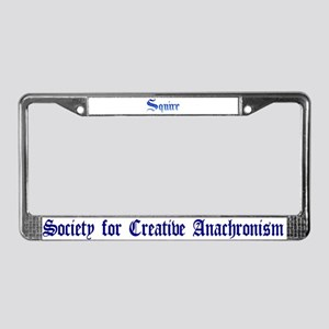 Squire License Plate Frame