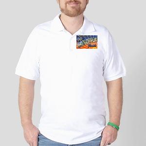 St Petersburg Florida Greetings Golf Shirt
