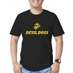USMC Devil Dogs Men's Fitted T-Shirt (dark)