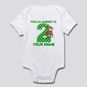 2nd Birthday Boy Monkey Infant Bodysuit