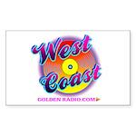 West Coast Sweet Logo Sticker (Rectangle 50 pk)