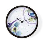 Atom Flowers #31 Wall Clock