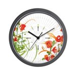Atom Flowers #7 Wall Clock