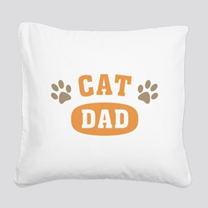 Cat Dad Square Canvas Pillow