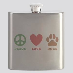 Peace Love Dogs 2 Flask