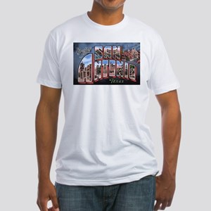 San Antonio Texas Greetings (Front) Fitted T-Shirt