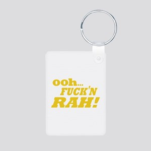 Ooh Fucking Rah Aluminum Photo Keychain
