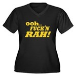 Ooh Fucking Rah Women's Plus Size V-Neck Dark T-Sh