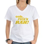 Ooh Fucking Rah Women's V-Neck T-Shirt