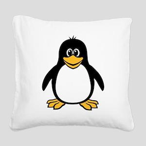 funny_penguin Square Canvas Pillow
