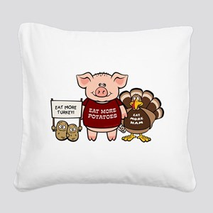 holiday_dinner Square Canvas Pillow