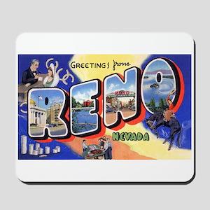 Reno Nevada Greetings Mousepad