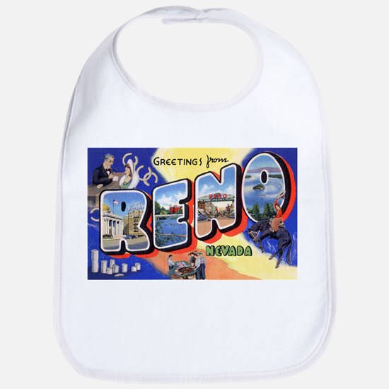 Reno Nevada Greetings Bib
