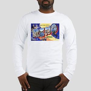 Reno Nevada Greetings (Front) Long Sleeve T-Shirt