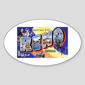 Reno Nevada Greetings Oval Sticker