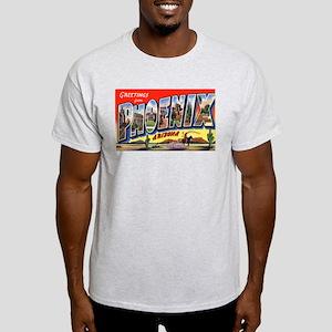 Phoenix Arizona Greetings (Front) Ash Grey T-Shirt