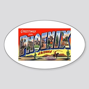 Phoenix Arizona Greetings Oval Sticker