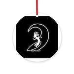 Kokopelli Surfer Ornament (Round)