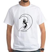 Kokopelli Surfer White T-Shirt