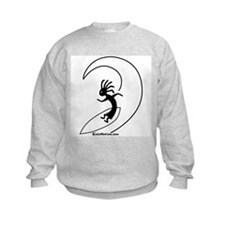 Kokopelli Surfer Kids Sweatshirt