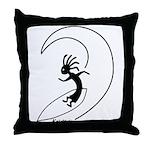 Kokopelli Surfer Throw Pillow