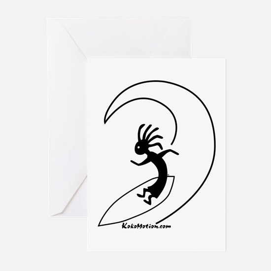 Kokopelli Surfer Greeting Cards (Pk of 10)
