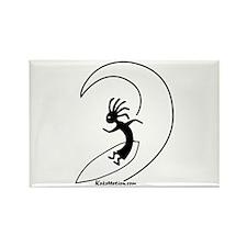 Kokopelli Surfer Rectangle Magnet (100 pack)