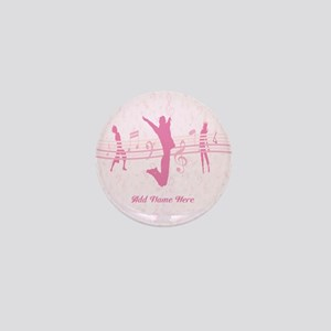 Personalized Music Dance and Drama Pink Mini Butto