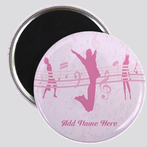 Personalized Music Dance and Drama Pink Magnet