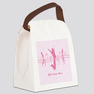 Personalized Music Dance and Drama Pink Canvas Lun