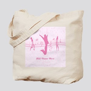 Personalized Music Dance and Drama Pink Tote Bag