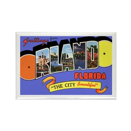 Orlando Florida Greetings Rectangle Magnet (10 pac