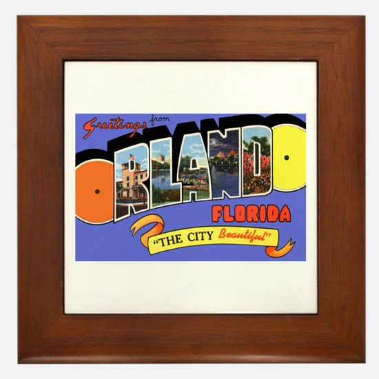 Orlando Florida Greetings Framed Tile