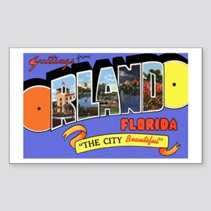 Orlando Florida Greetings Rectangle Sticker